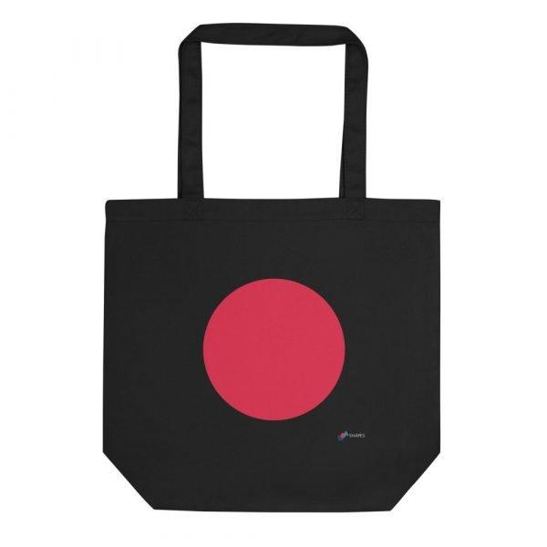 Circle Black Eco Tote Bag